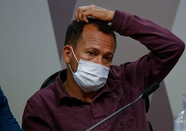 CPI da Covid no Senado ouve o depoimento Ivanildo Gonçalves da Silva, motoboy da VTC Log, em Brasília, quarta-feira (1º)