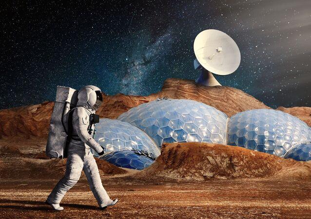 Missão humana em Marte (imagem referencial)