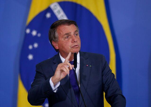 Presidente Jair Bolsonaro durante cerimônia no Palácio do Planalto. Foto de arquivo