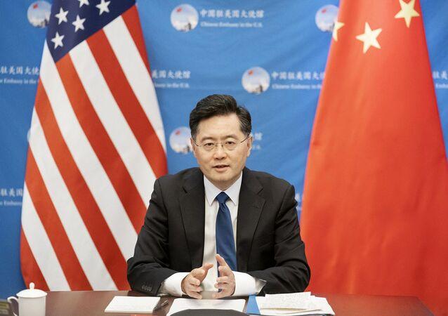Embaixador da China nos EUA, Qin Gang, em 31 de agosto de 2021