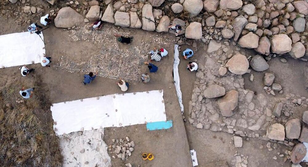 Mosaico de 3.500 anos desenterrado na Turquia