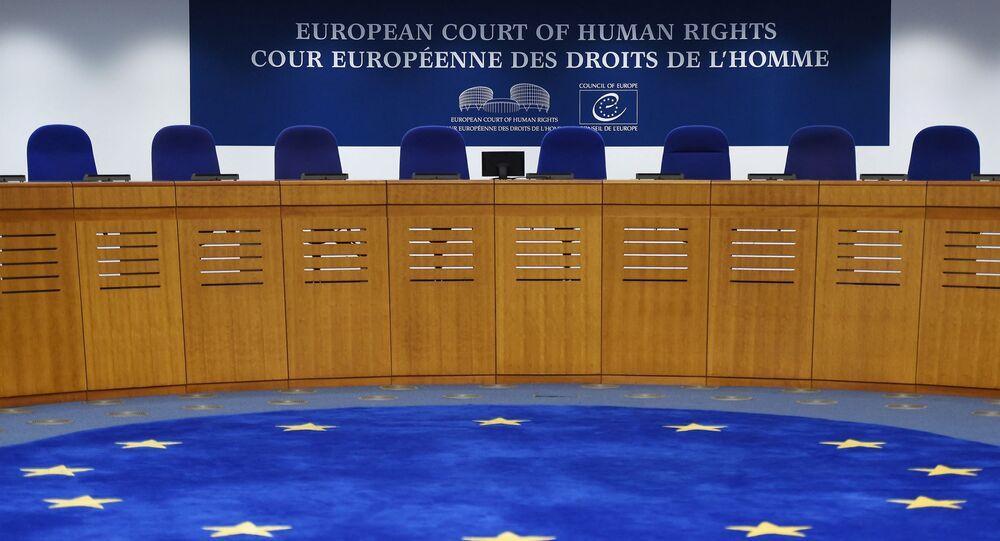 Interior do Tribunal Europeu de Direitos Humanos (TEDH) em Estrasburgo, França, 7 de fevereiro de 2019
