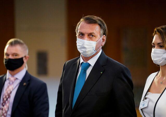 Jair Bolsonaro, presidente do Brasil, durante 76ª Sessão da Assembleia Geral da ONU em Nova York, EUA, 21 de setembro de 2021