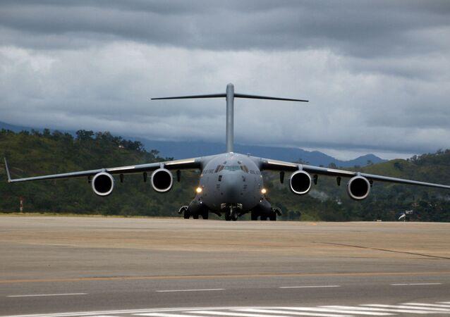Avião cargueiro C-17 da Força Aére Real da Austrália