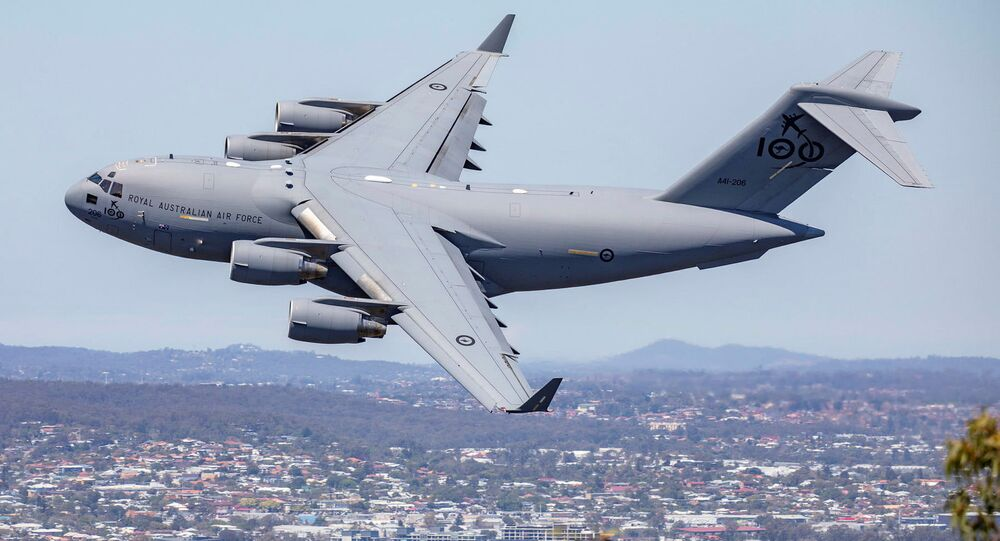 Avião C-17A Globemaster III da Força Aérea Real Australiana