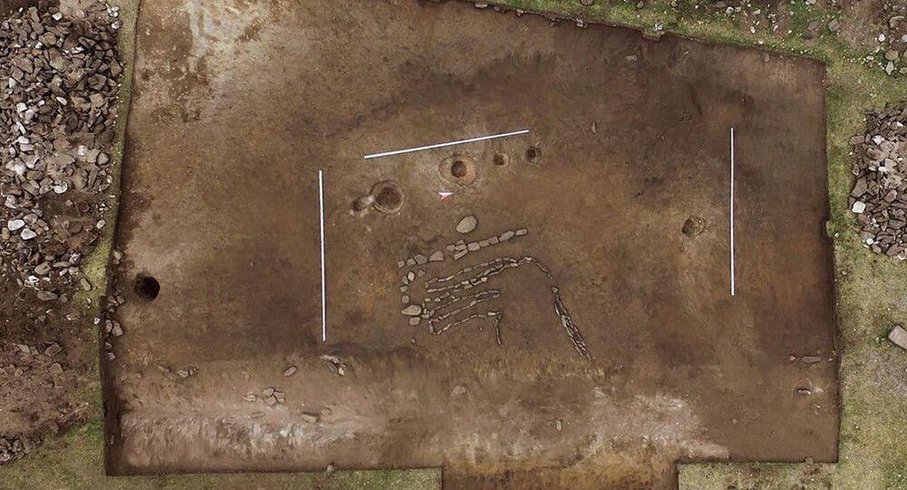 Um geoglifo em forma de touro foi descoberto em um sítio arqueológico localizado no sul da Sibéria