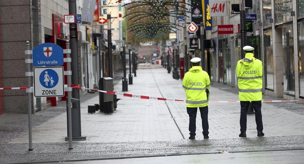Ruas desertas após serem evacuadas pela Polícia alemã no oeste do país (imagem referencial)