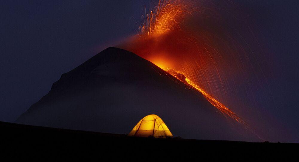 Erupção do vulcão Fuego na Guatemala, março de 2021