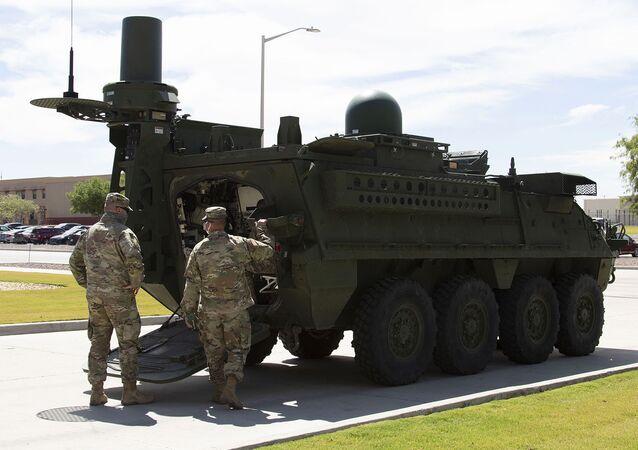 Sistema de guerra eletrônica tático baseado em um Stryker