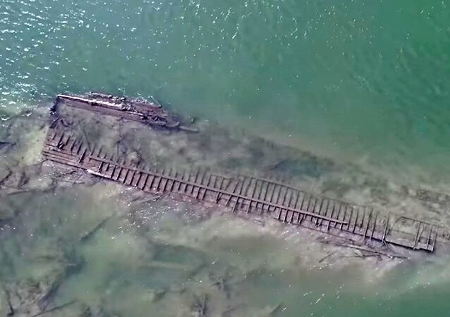 Navio Abner O'Neal naufragado no rio Missouri em 1892