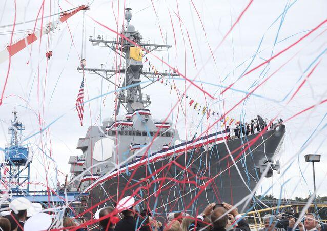 Novo destróier da Marinha dos EUA DDG 120 Carl M. Levin