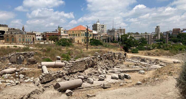 Complexo de templos do período romano descoberto na cidade de Tiro no Líbano