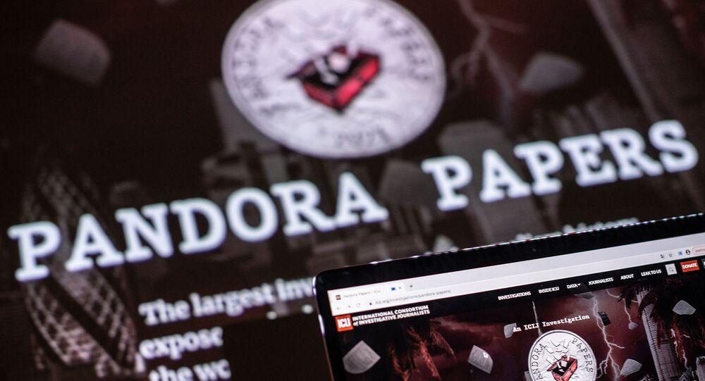 Ilustração fotográfica mostra logotipo do Pandora Papers, em Lavau-sur-Loire, oeste da França, em 4 de outubro de 2021