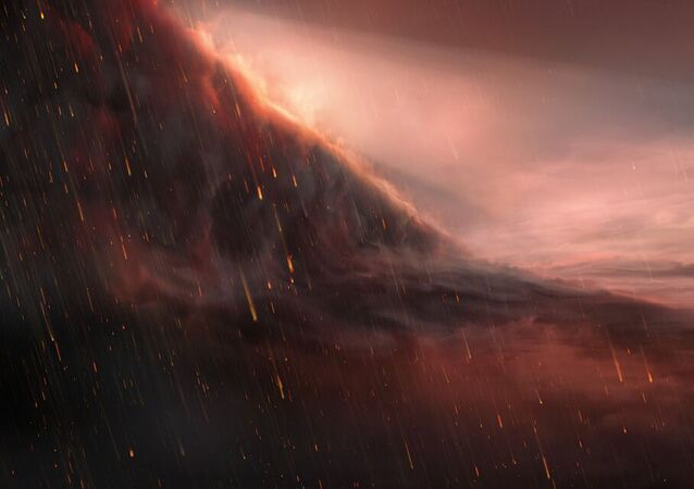 Representação artística do exoplaneta WASP-76b
