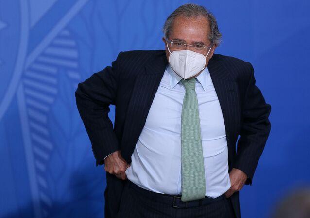 Paulo Guedes ministro da Economia do Brasil. Foto de arquivo