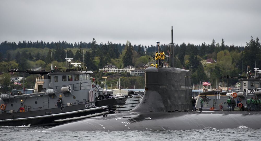 Sunmarino nuclear USS Connecticut (SSN-22) (imagem referencial)
