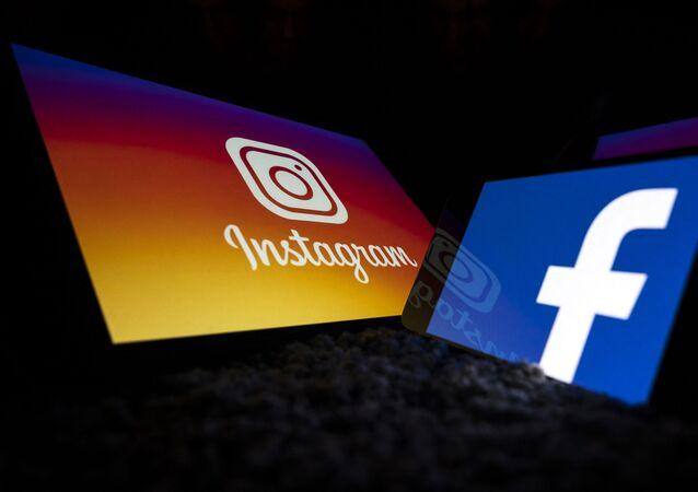 Logotipos das redes sociais Instagram e Facebook