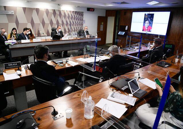 Sessão da CPI da Covid no Senado, 7 de outubro de 2021