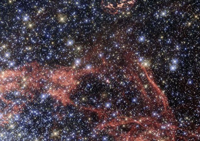 Remanescente de supernova (imagem referencial)