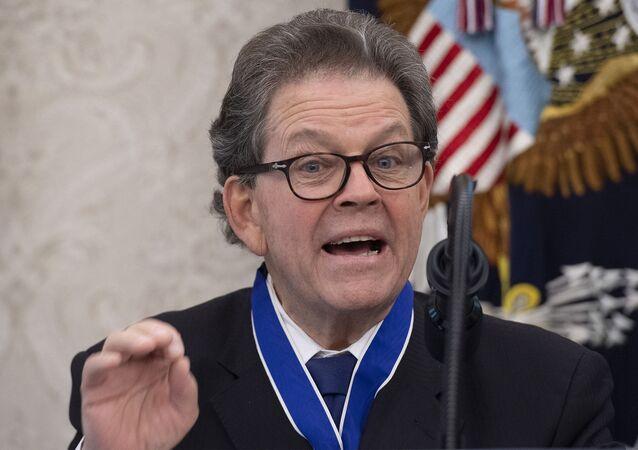 Arthur Betz Laffer, membro do Conselho Consultivo de Política Econômica de Ronald Reagan (1981-1989). Foto de arquivo