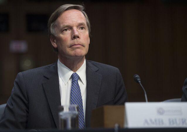 O ex-embaixador dos EUA na OTAN, Nicholas Burns, em Washington, EUA. Foto de arquivo
