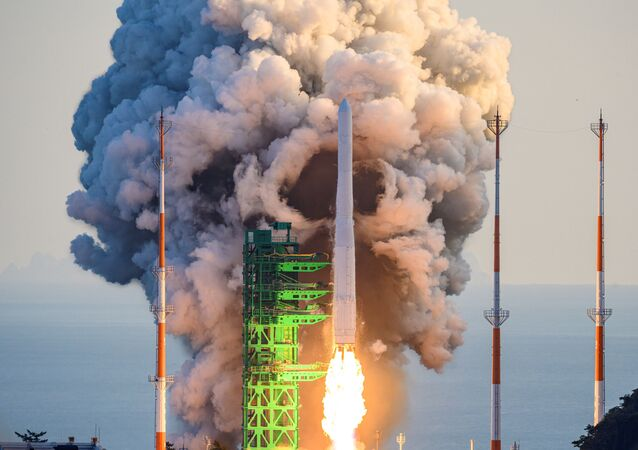 Lançamento do foguete Nuri (KSLV-II) da Coreia do Sul a partir do Centro Espacial Naro, 21 de outubro de 2021