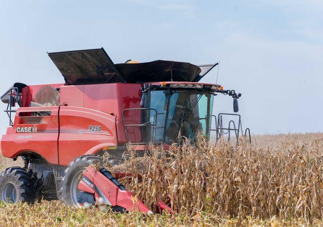 Trator cultiva campo agrícola (imagem referencial)