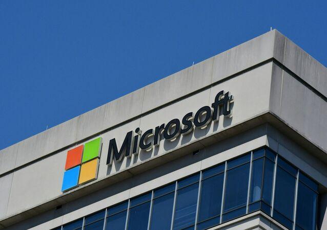 Logo da Microsoft decora um prédio em Maryland