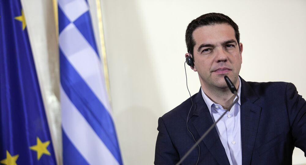 O primeiro-ministro grego Alexis Tsipras.