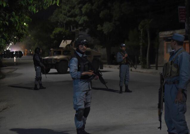 Agentes de Segurança vigiam área próxima à pousada Park Palace