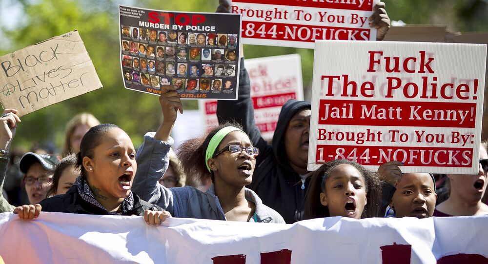 Protestos contra morte de jovem negro em Visconsin, nos EUA.