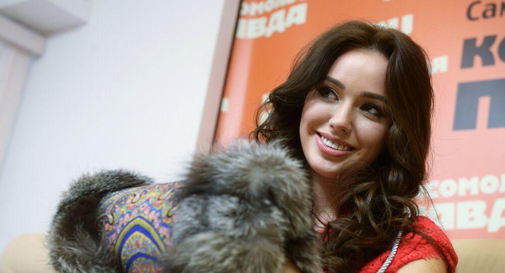 Anastasia Kostenko, noiva do meia da equipe Lokomotiv Dmitry Tarasov (foto de arquivo)