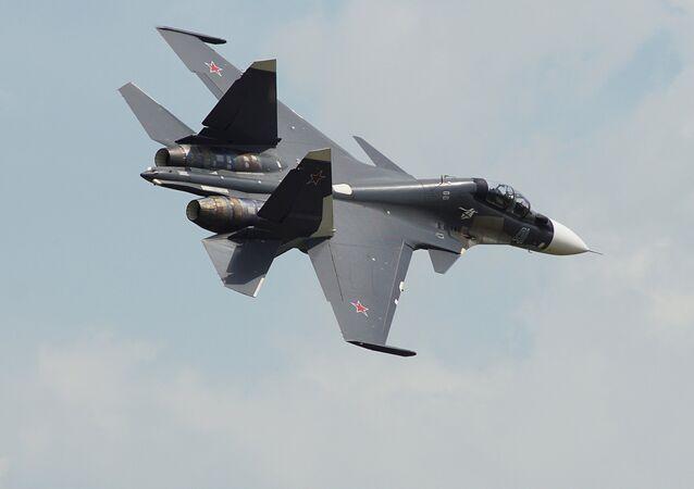 Caça Su-30SM da Força Aérea russa