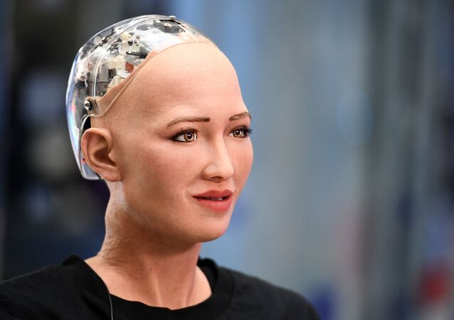 Robô humanoide Sophia (foto de arquivo)