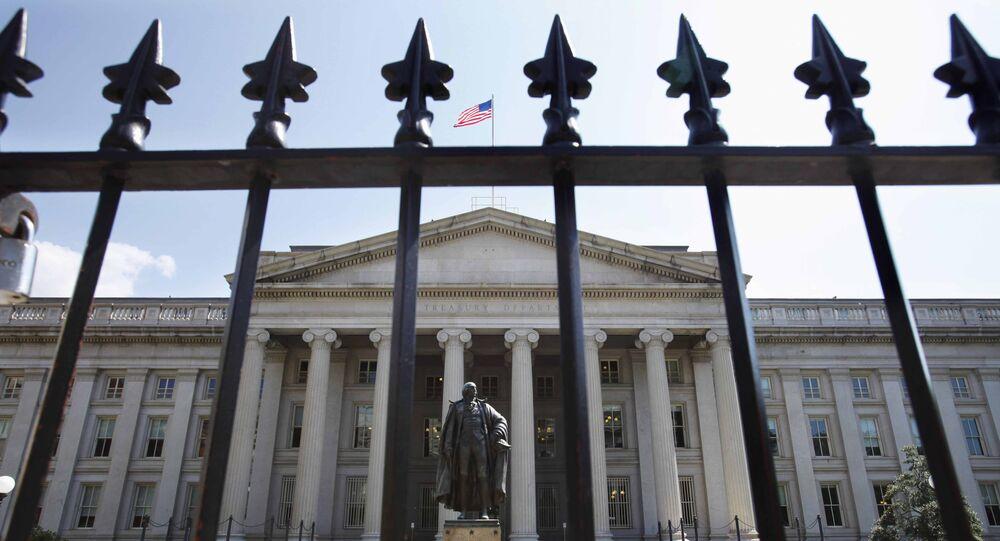 Departamento do Tesouro dos EUA em Washington