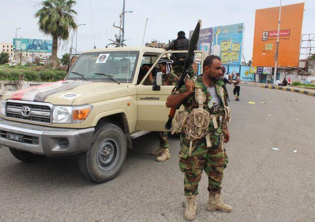 Militantes do Movimento do Sul do Iêmen