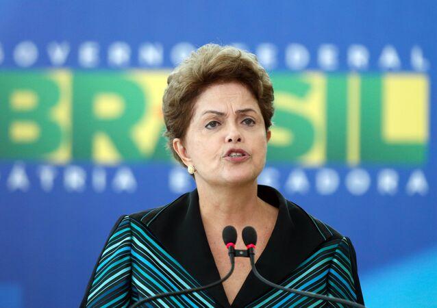 Dilma Rousseff em abril de 2015.