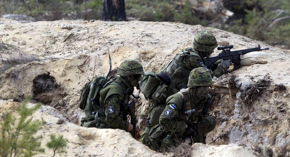 Soldados estonianos participam de exercício da OTAN em 12 de maio de 2015