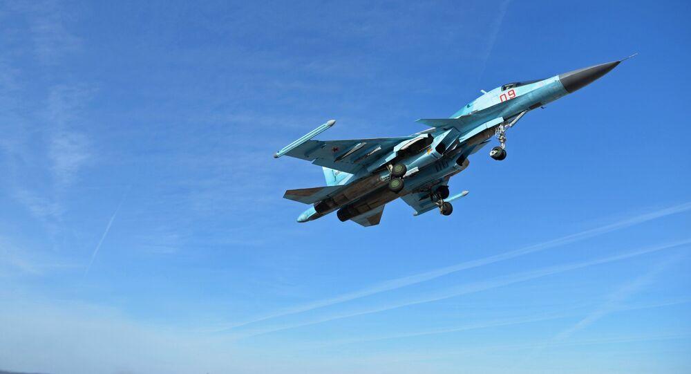 Caça Su-24 da Força Aeroespacial da Rússia