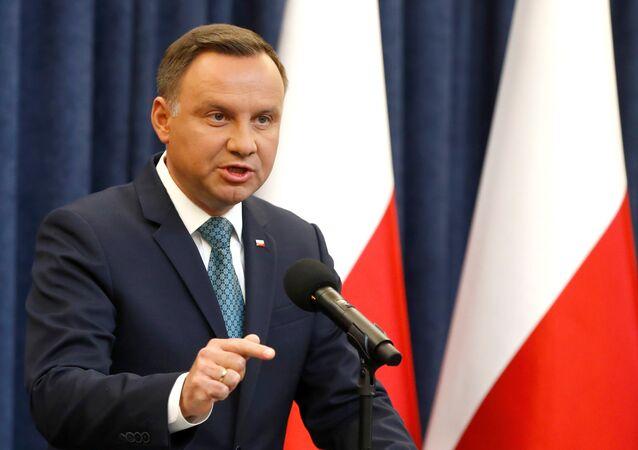 O presidente da Polônia, Andrzej Duda.