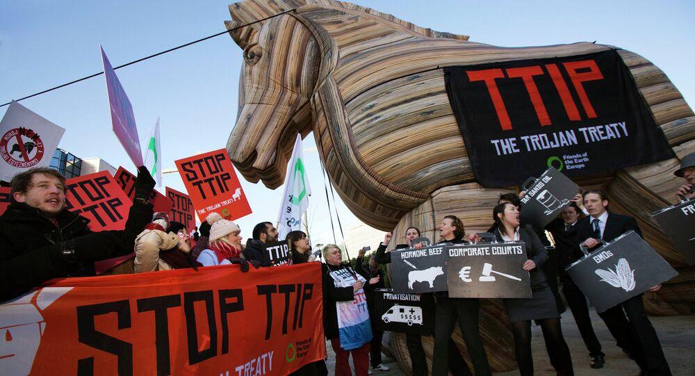 Protesto contra TTIP