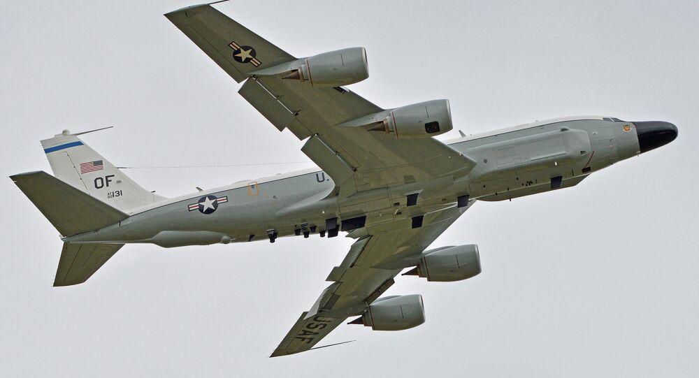 Boeing RC-135W da Força Aérea dos EUA (foto de arquivo)