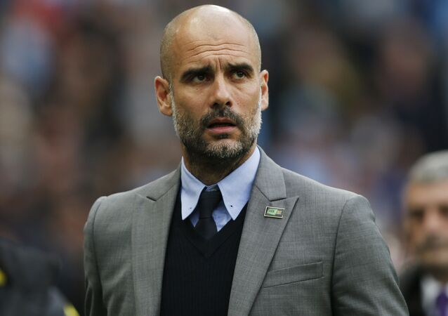 Pep Guardiola, treinador do Manchester City, da Inglaterra (arquivo)