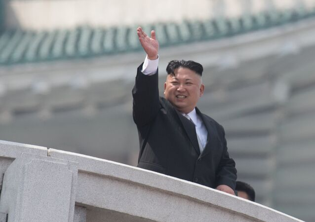 O líder da Coreia do Norte, Kim Jong-un, durante um evento em Pyongyang