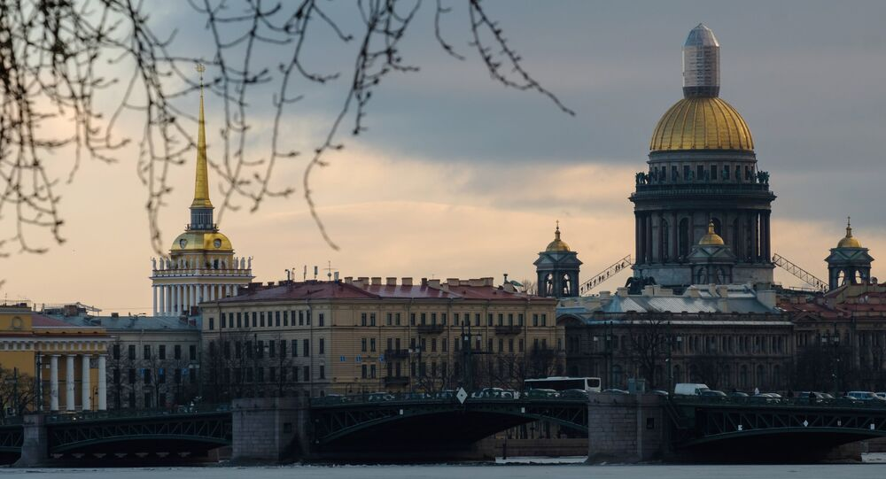 Cidade de São Petersburgo, na Rússia