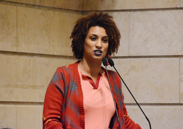 Marielle Franco, vereadora pelo PSOL, assassinada na noite do dia 14 de março