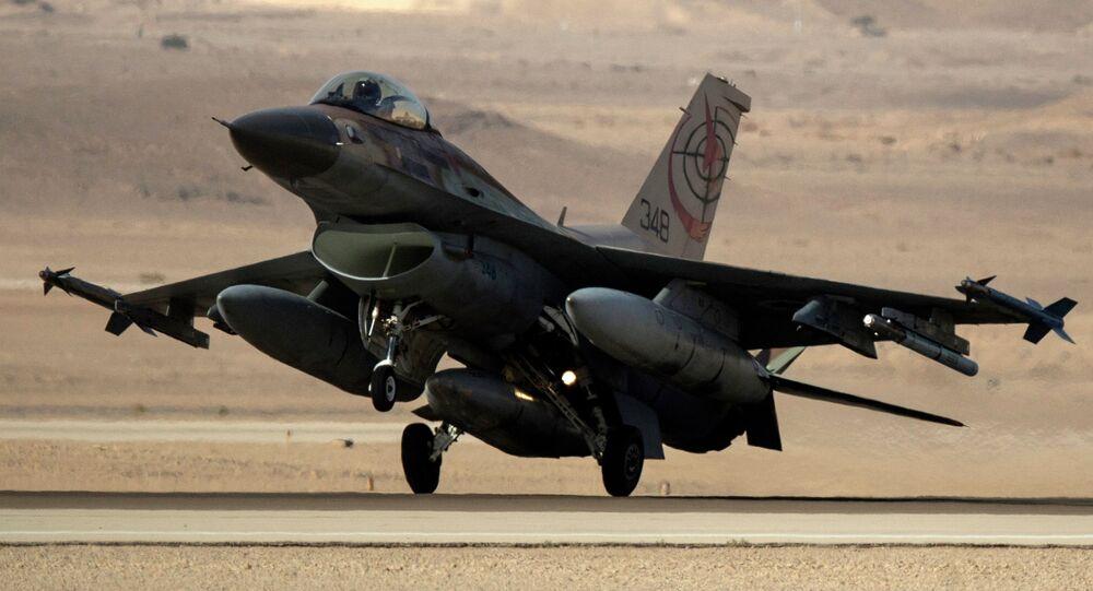 Caça F-16 da Força Aérea de Israel