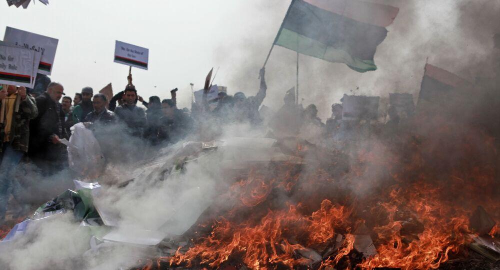 Primavera Árabe protesta em Benghazi, Líbia