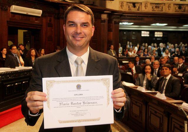 Flávio Nantes Bolsonaro, do Partido Social Liberal (PSL), deputado estadual do Rio de Janeiro, em imagem de 15 de dezembro de 2014