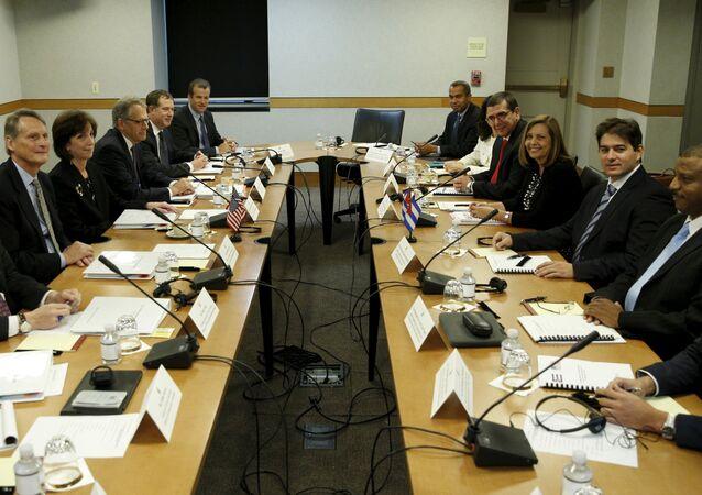 Representantes dos EUA e de Cuba se reuniram em Washington para mais uma rodada de negociações.